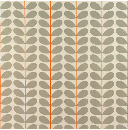 Two Colour Stem av Orla Kiely - warm grey