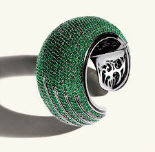 Photo: M.C.L. by MATTHEW CAMPBELL LAURENZA Exclusively Ours. Enameled sterling cuff with faceted green agate. $6,500. Main Floor. 212 872 8775