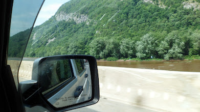 Photo: The Delaware Water Gap..  the Delaware was murky every time I saw it.
