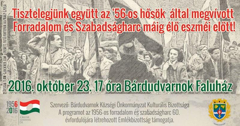 A Magyar Szabadság Éve 2016 - megemlékezés október 23