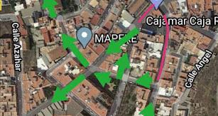 Plano de la reestructuración de las calles.