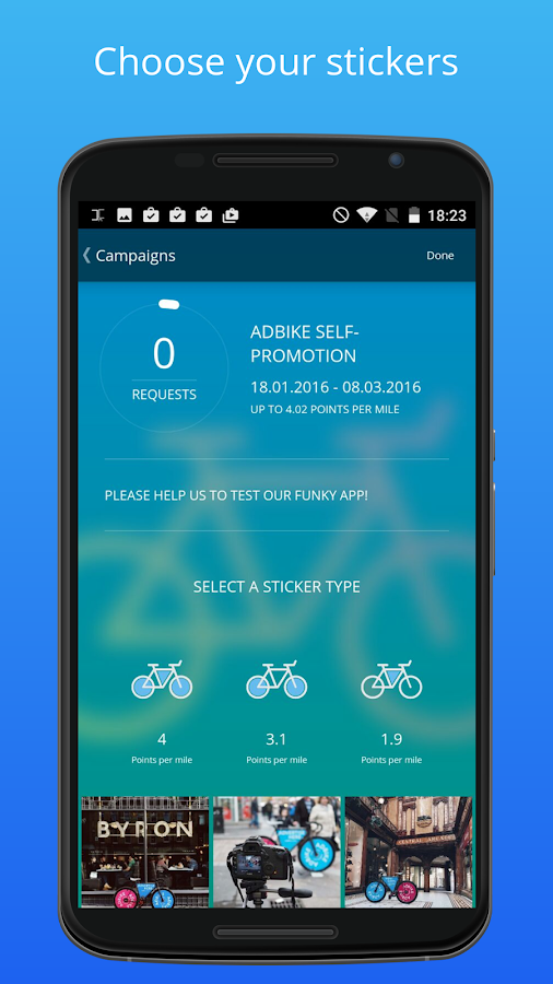 AdBike — earn as you ride- screenshot