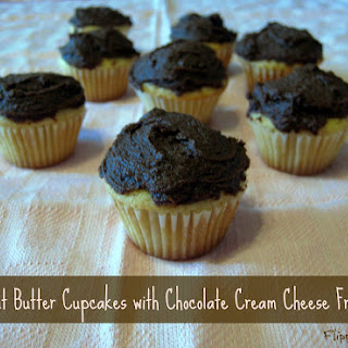 Gluten-Free Peanut Butter Cupcakes with Chocolate Cream-Cheese Frosting