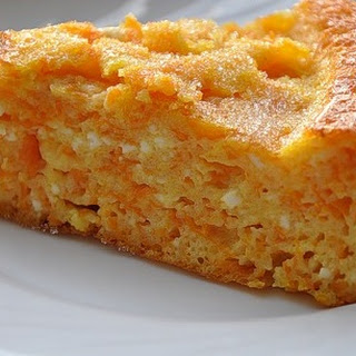 Carrot and Cottage Cheese Pudding.