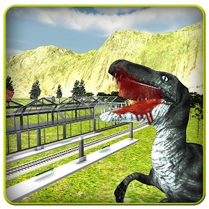 Angry Dinosaur Simulator:Train for PC and MAC