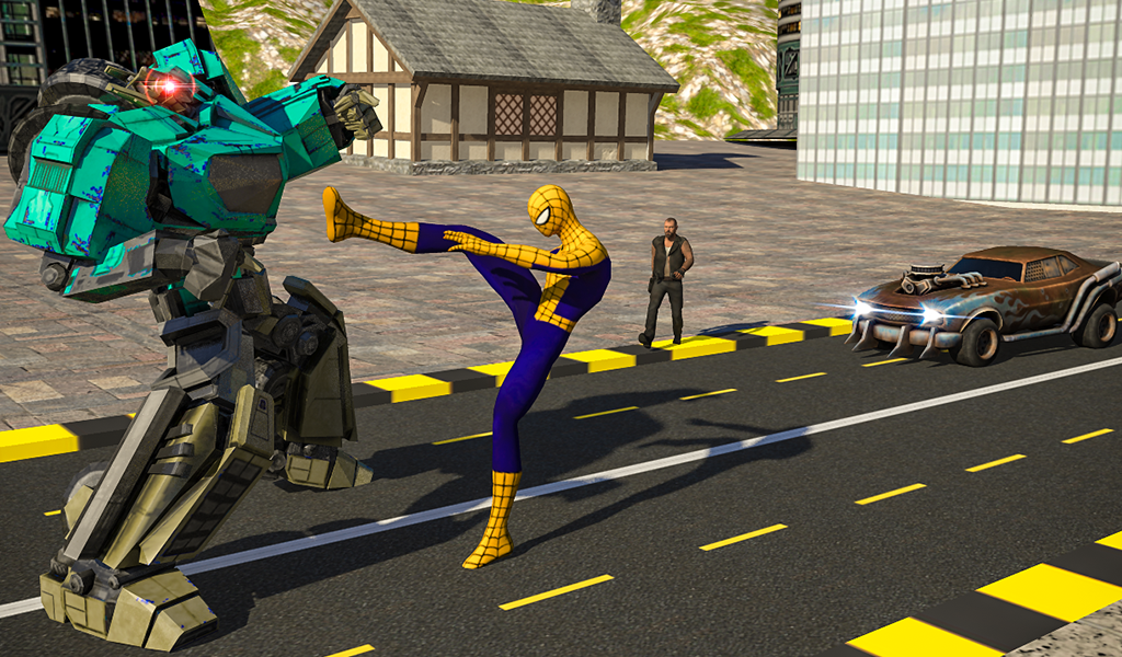 Superheroes Robot Battle- screenshot