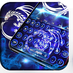 Neon bluefire basilisk dragon typewriter theme Icon