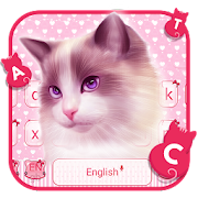 Pink Cute Cat keyboard