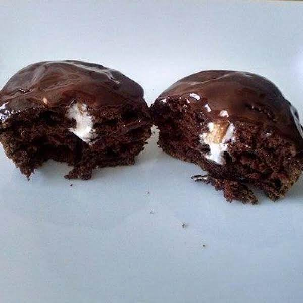 Cream Filled Cupcakes With Chocolate Ganache Recipe