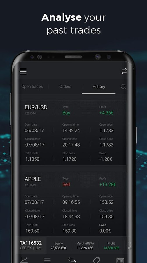 CFDs and Forex trading- screenshot