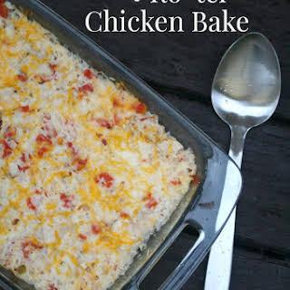Cheesy Ro*tel Chicken Bake.