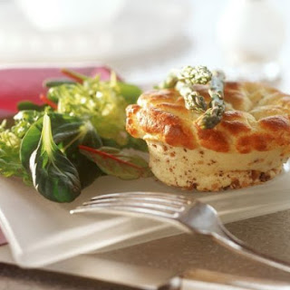 Baked Savoury Pudding with Leaves