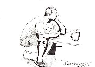 Photo: 茶餘飯後2012.07.16鋼筆 茶餘飯後阿弟想 若使當初會思量 明辨歧路結益友 何必變成這模樣