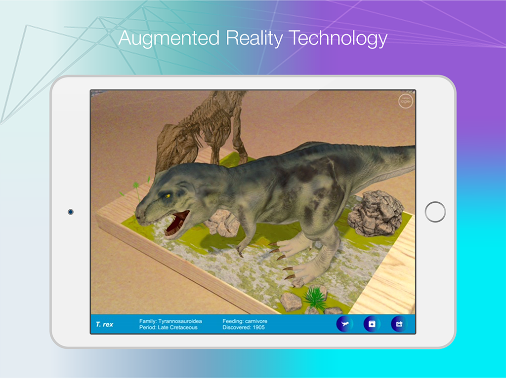 Logie T.Rex Augmented Reality- screenshot