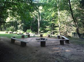 Photo: Fire circle, located halfway between Juniors and Midget cabin circles.
