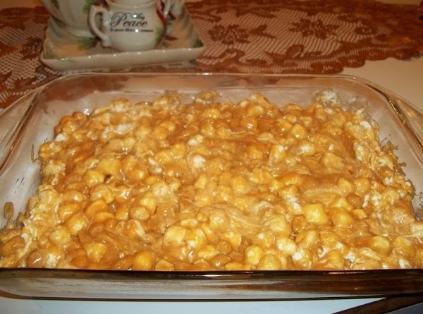 Spread into a buttered 9 x 13 pan. Refrigerate for a few hours till...