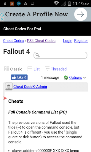 Cheat Codes For Ps4 1.1 screenshots 3
