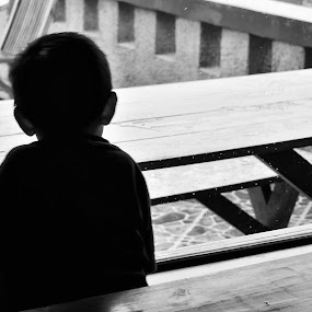 silhoutte in window by Rendy Yuninta - Babies & Children Children Candids ( child, candid, moments, photo, portrait )