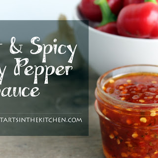 Sweet & Spicy Cherry Pepper Sauce.