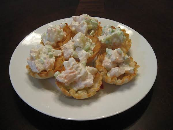 Mini Phyllo Cups Filled Wih Shrimp Salad Recipe