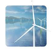 Coastal Wind Farm 3D Live Wallpaper