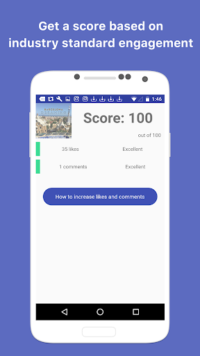 Get Comments and Likes Engagement for Instagram screenshot