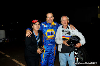 Photo: Ron Capps with Irene & Dave Hultquist