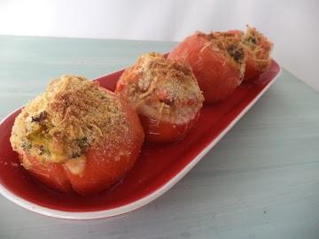 Broccoli Filled Tomato Cups Recipe