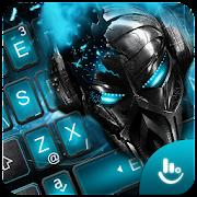 Blue Tech Musician Skull Keyboard Theme