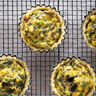 Chard, Courgette and Pea Tart.