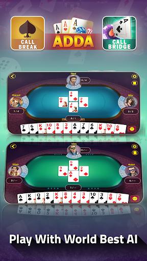 Adda : Rummy , Callbreak ,Solitaire & 29 Card Game modavailable screenshots 3