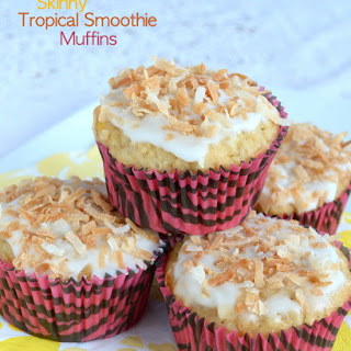 Skinny Tropical Smoothie Muffins