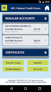 APL Federal Credit Union- screenshot thumbnail