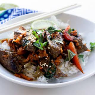 Thai Basil Beef {Pad Gra Prow}.