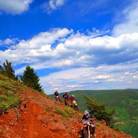 by Josh Pingel - Sports & Fitness Motorsports ( #colorado, #dirtbike, #mountains )