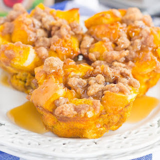 Pumpkin French Toast Cups with Cinnamon Streusel