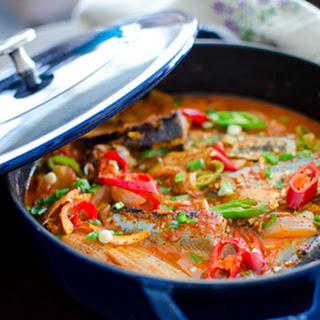 Mackerel Pike Kimchi Stew