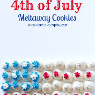 4th of July Meltaway Cookies