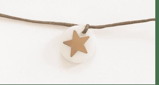 Bracelet jeton étoile