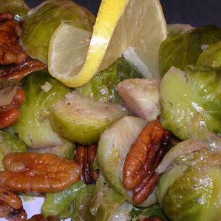 Southern Brussels Sprouts with Brown Butter and Pecans.