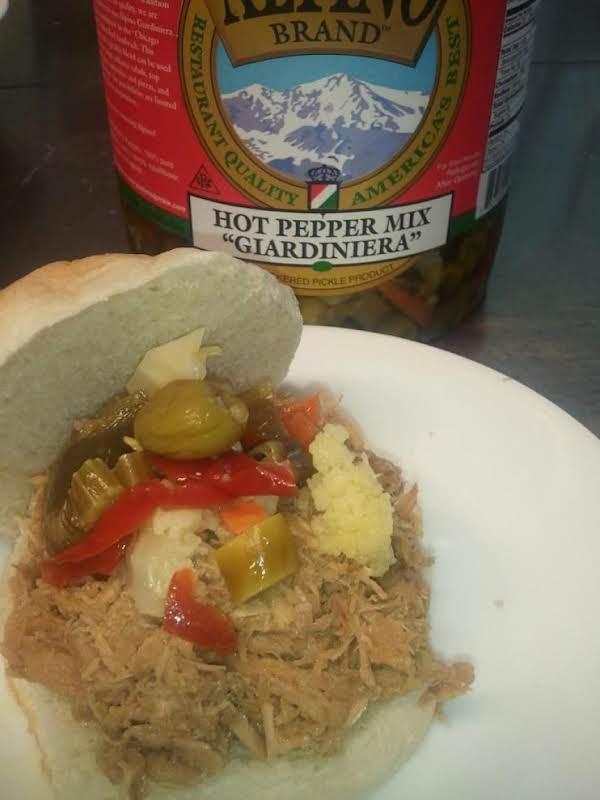 Pulled Pork Sandwich With Giardiniera