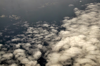 Photo: clouds covered most of the Congo Basin