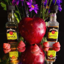Jim Beam & Apple by Dave Walters - Food & Drink Alcohol & Drinks ( fruit, nature, still life, apples, alchol, lumix fz2500 )