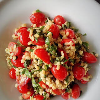 White Lentil Tomato Basil Salad.