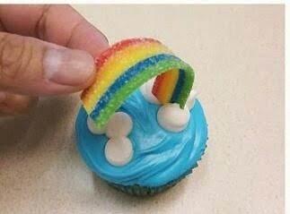 Rainbow Sky Cupcakes Recipe