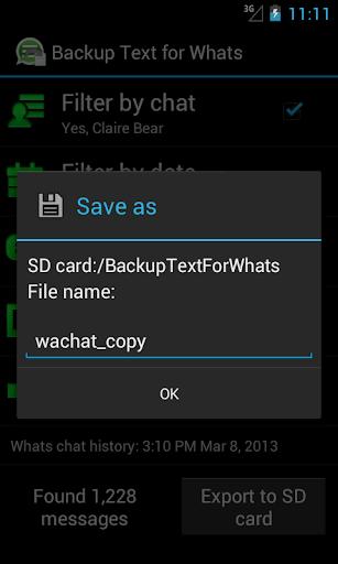 玩免費工具APP|下載Backup Text for Whats app不用錢|硬是要APP