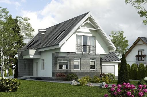 projekt Bolek II z garażem 1-st. A
