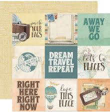Simple Stories Simple Vintage Traveler Double-Sided Cardstock 12X12 - 4x4 UTGÅen