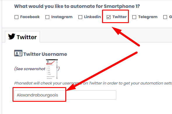 Enable twitter auto follow feature