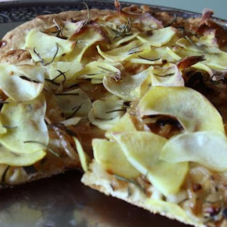 Golden Potato and Caramelized Onion Flat Bread Pizza